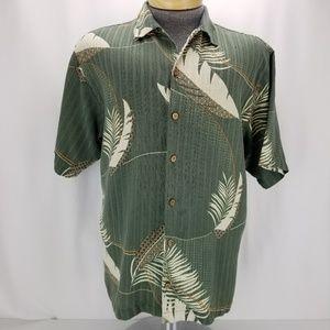 Tommy Bahama Mens 100% Silk Shirt Floral Hawaiian